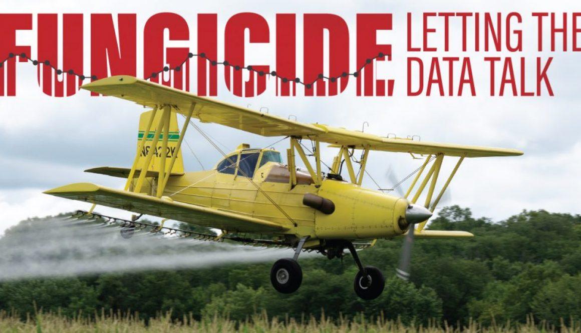 Plane Applying Fungicide