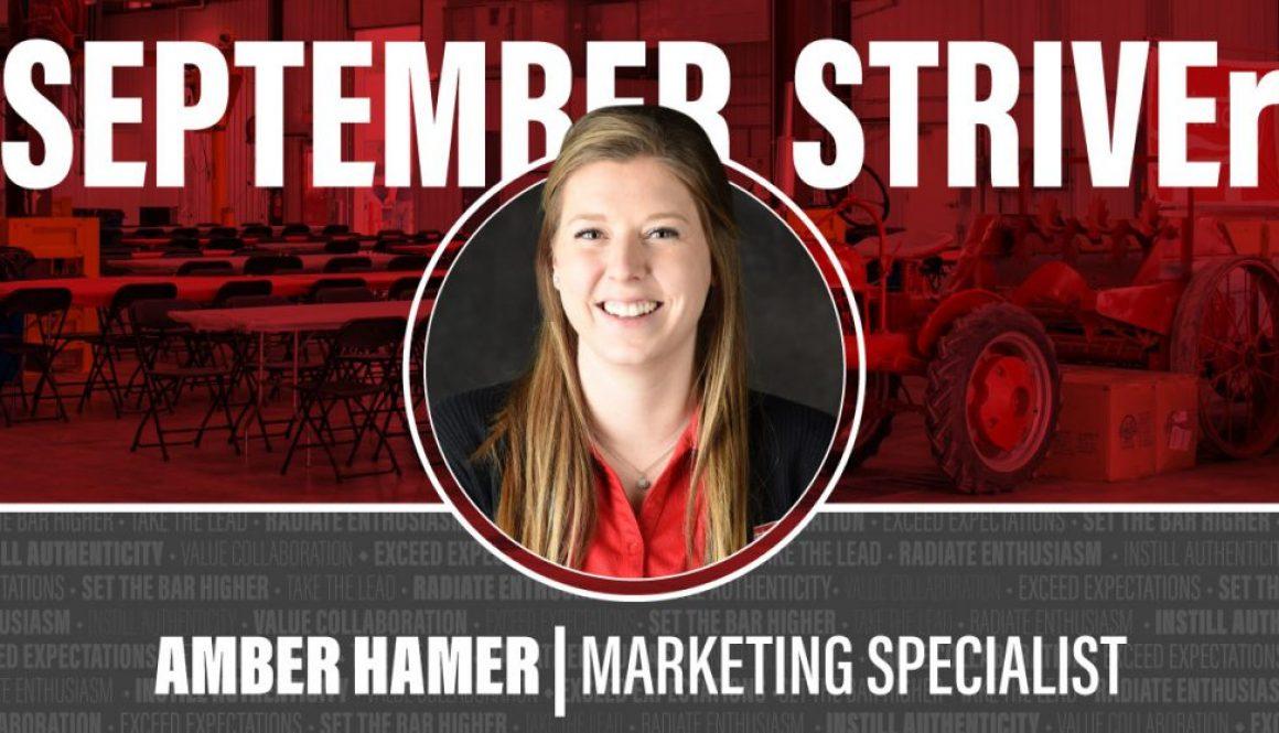 September 2021 STRIVEr Amber Hamer